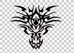 纹身绘图,纹身PNG剪贴画杂项,叶,龙,分支,其他,单色,对称,虚构人图片