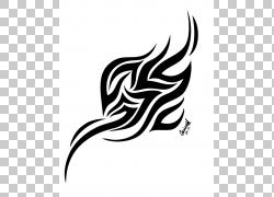 纹身艺术,部落设计PNG剪贴画白色,哺乳动物,叶,单色,脊椎动物,虚图片