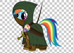 我的小马:友谊是魔术粉丝Fluttershy马,箭头弓PNG剪贴画马,哺乳图片