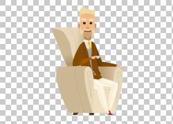 晚年,老人坐在沙发上PNG剪贴画家具,服务,人,商务男人,沙发,沙发,图片