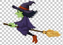 巫术,万圣节女巫,巫婆PNG剪贴画万圣节快乐,虚构人物,鸟,魔术,魔图片