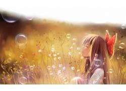 动漫,东方,花卉,Hakurei Reimu,黑发,动漫女孩,动漫,性质,闭着眼图片