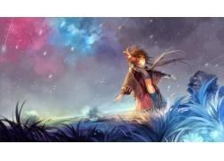 动漫,VOCALOID,动漫女孩,天空,明星,动漫85830图片