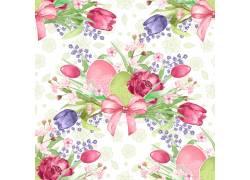 鲜花图案背景素材