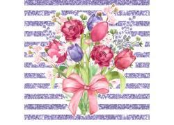 紫色条纹鲜花背景