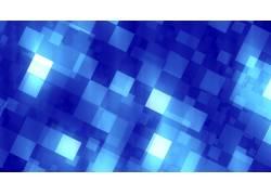 蓝色像素格抽象背景
