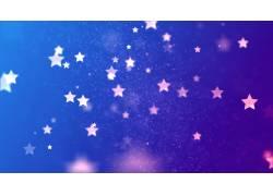 蓝底五角星光斑背景