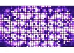 紫色像素格抽象背景