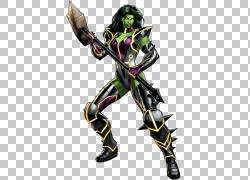 漫威:复仇者联盟绿巨人雷神剑圣贝蒂罗斯,她绿巨人透明PNG剪贴画图片