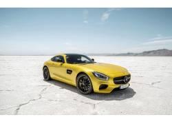 赛跑,梅赛德斯 - 奔驰,黄色的汽车,沙漠,汽车,梅赛德斯 - 奔驰AMG图片