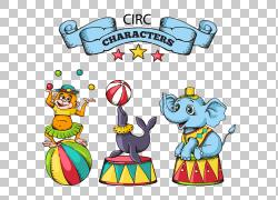 马戏团卡通,卡通马戏团动物材料PNG剪贴画卡通人物,其他,功能区,图片