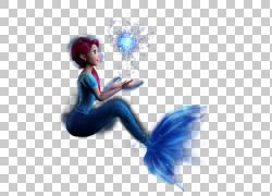 美人鱼尾巴,美人鱼PNG剪贴画蓝色,电脑壁纸,卡通,虚构人物,封装的图片