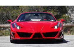 法拉利458,超级跑车,Mansory为,法拉利,红色的汽车,车辆,汽车4675图片