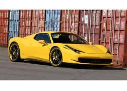 法拉利458,超级跑车,法拉利,黄色的汽车,汽车,车辆46747图片