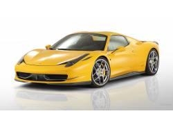 法拉利458,超级跑车,简单的背景,法拉利,黄色的汽车,汽车,车辆467图片