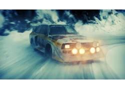 拉力赛车,奥迪,雪,漂移,奥迪quattro,汽车,车辆,赛跑29192图片