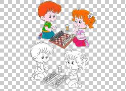 棋子玩,国际象棋男孩和女孩卡通PNG剪贴画卡通人物,游戏,儿童,文图片