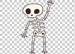 人体骨骼计算机文件,你好,骨骼怪物PNG剪贴画文本,手,头,人类,虚图片