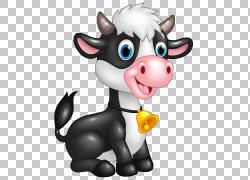 牛卡通,可爱的牛卡通,牛PNG剪贴画漫画,虚构人物,鼻子,可爱,奶牛,图片