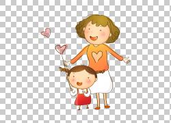 女人卡通母亲节,卡通人物母亲儿童材料保险开关PNG剪贴画爱,卡通图片