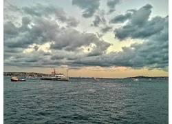 伊斯坦布尔,火鸡,博斯普鲁斯,船,云,天空,海,水,景观42411图片