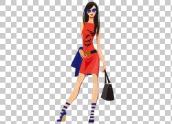 时尚女人,购物女孩的PNG剪贴画黑头发,超级英雄,时尚插画,卡通,虚图片