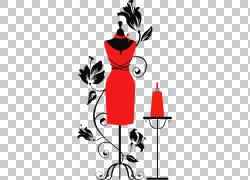 时装模特皇室 - 礼服形式,红色手绘平模型PNG剪贴画水彩画,名人,图片