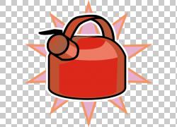 水壶,卡通红水壶PNG剪贴画卡通人物,漫画,橙色,生日快乐图像,图片