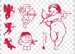 心丘比特情人节图标,丘比特PNG剪贴画爱,白色,文本,心,徽标,生日图片