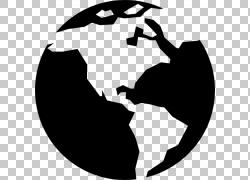世界计算机图标地球图标设计,全球PNG剪贴画杂项,全球,徽标,单色,图片