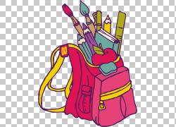 书包学生绘图,教练PNG剪贴画儿童,背包,虚构人物,洋红色,老师,教图片