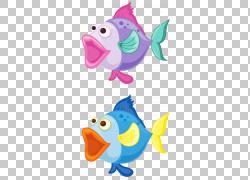 鱼,快乐巨型蝾螈PNG剪贴画紫色,动物,脊椎动物,生日快乐图像,图片