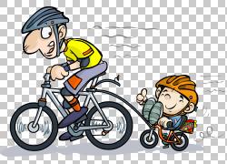 自行车骑自行车卡通,父母PNG剪贴画人,运动器材,虚构人物,自行车图片