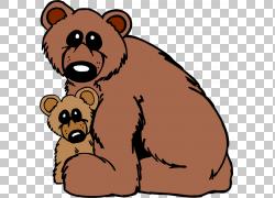 棕熊婴儿北极熊美国黑熊,母熊卡通熊PNG剪贴画卡通人物,哺乳动物,图片
