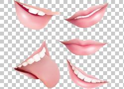 嘴唇微笑,纹理卡通粉红色的嘴唇元素PNG剪贴画卡通人物,人物,卡通图片