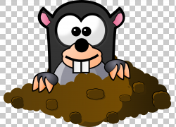 鼹鼠卡通,熊猫PNG剪贴画漫画,哺乳动物,动物,carnivoran,脊椎动物图片