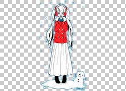 雪人,有雪人PNG clipart的女孩杂项,冬季,时尚女孩,人类,时尚插画图片
