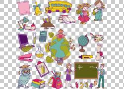 学校绘图学生,学校PNG剪贴画紫色,学校用品,校车,插画,卡通,虚构图片