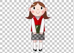 学生卡通插图,可爱安静的女孩PNG剪贴画孩子,时尚女孩,手,摄影,生图片