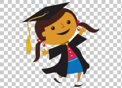 学生毕业典礼学院学位,研究生女孩PNG剪贴画人物,虚构人物,卡通,图片