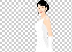新娘婚礼,卡通新娘PNG剪贴画卡通人物,白色,脸,黑头发,人,漫画,女图片