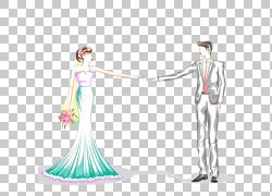 新郎和新娘PNG剪贴画婚礼,卡通,卡通人物,女孩,设计,婚纱礼服,时图片