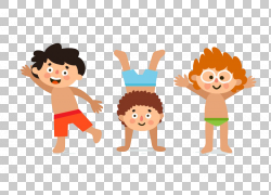 直升机男孩欧几里德儿童插画,卡通小孩穿着泳衣PNG剪贴画卡通人物图片