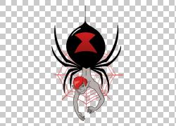 蜘蛛侠男,蜘蛛插图PNG剪贴画虚构人物,deviantArt,蜘蛛网,动漫,红图片