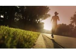 跑步,户外的女运动,赛跑,阳光107880图片