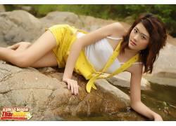 库米亚月亮,涂指甲,亚洲,人物,女性女人,美女,模特104881