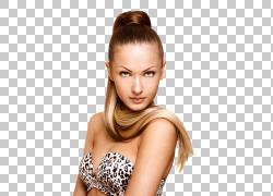 模特发型化妆品棕色头发,美发模特PNG剪贴画黑头发,摄影,人,人造图片