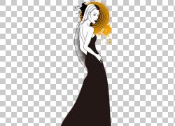 模特时尚,女性时尚PNG剪贴画假期,时尚女孩,时尚,插画,虚构人物,图片