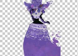 欧几里德数字艺术,死女孩PNG剪贴画紫色,时尚女孩,紫罗兰色,手,生图片