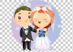 婚姻亲密关系浪漫,新郎和新娘PNG剪贴画爱,杂,孩子,结婚,友谊,人,图片